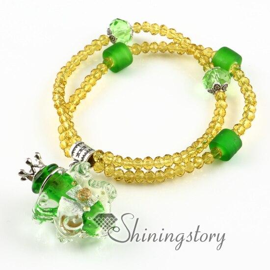 aromatherapy inhaler murano glass essential oils jewelry essential oil bracelets