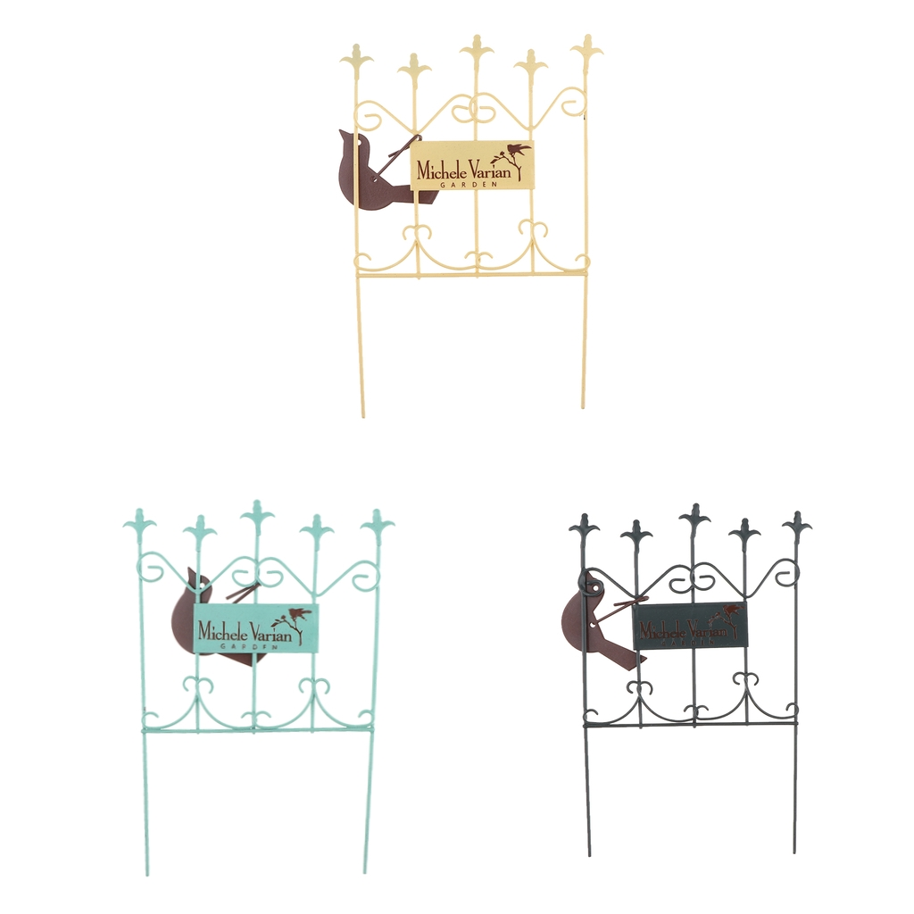 Miniature Metal Gate 1/12 Scale Accessories For Fairy Garden Dolls House Decoration