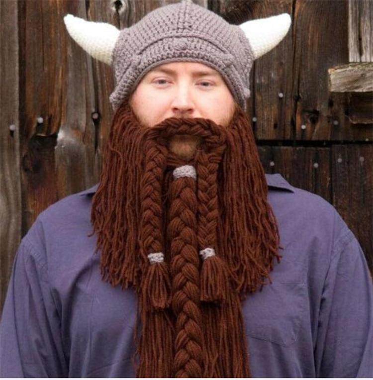 Knitted Beard Beanie Pattern