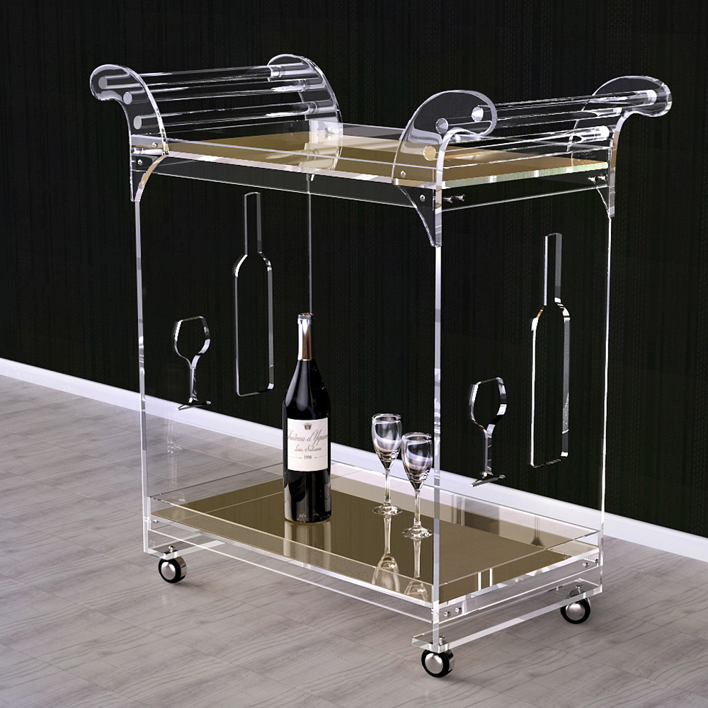 Popular Acrylic Bar Cart-Buy Cheap Acrylic Bar Cart lots from ...