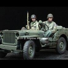 1/35 WW2 США джип набор экипажа, без джипа, полимерная модель солдата GK, военная тема Второй мировой войны, в разобранном и неокрашенном комплекте