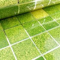 DIY 45x200cm Mosaic 4 Colors Aluminum Foil Anti Oil Kitchen Wallpaper Self Adhensive Waterproof Resistant Free