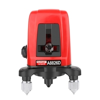 Mini Laser Level Meter 360 Degree Cross Red Laser 3D Self 2 Line Lasers Horizontal Vertical A8826D Tripod Levels Tools With Bag