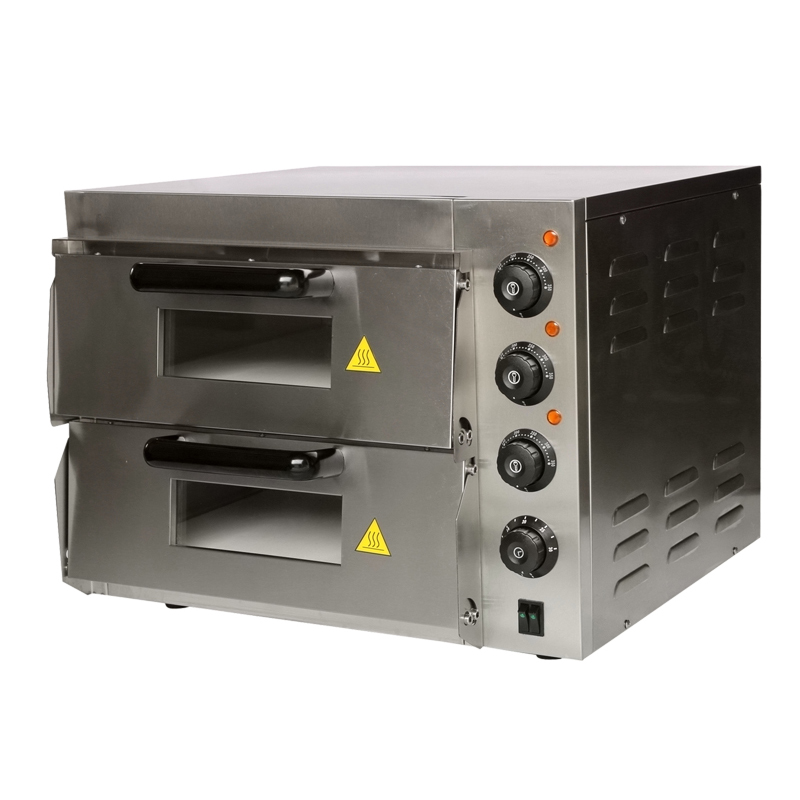 Commercial Electric Pizza Oven ~ Double electric pizza baking oven bread commercial