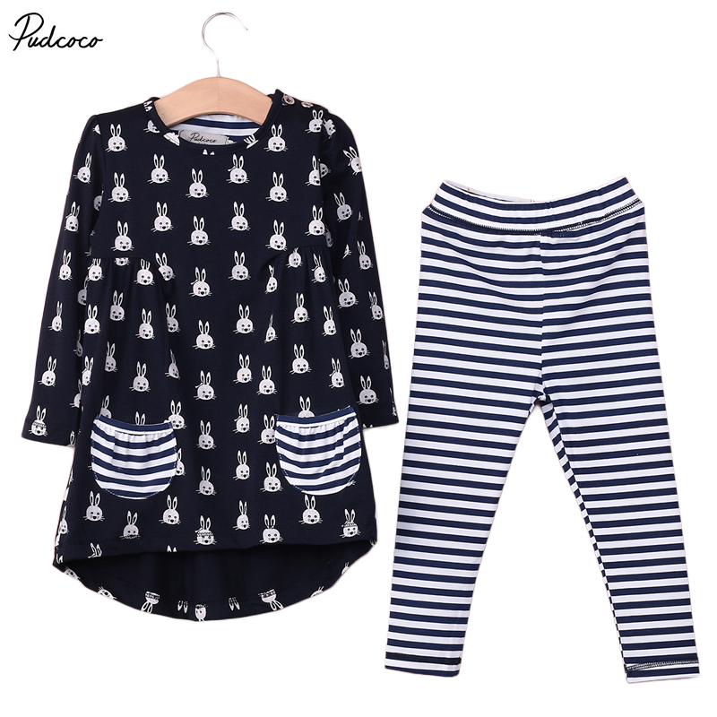 Kids clothing girls set active children clothing sets autumn winter clothes striped pants Mla winter style fashion set