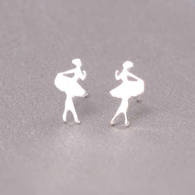 100% 925 Solid Real Sterling Silver Piercing Feather Cat Star Stud Earrings For Women Girls Brincos pendientes Brincos eh979