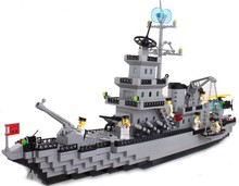 model building kits compatible with lego city warship 614 3D blocks Educational model & building toys hobbies for children