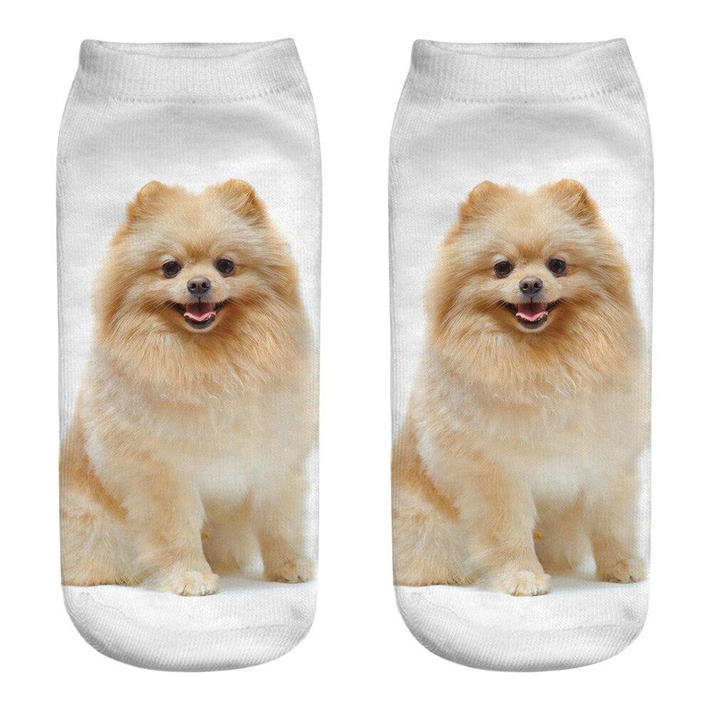 #5 Dropship 2018 Neue Mode Niedlichen Casual Baumwolle 3d Druck Medium Cartoon Sport Socken Freeship Chinesische Aromen Besitzen