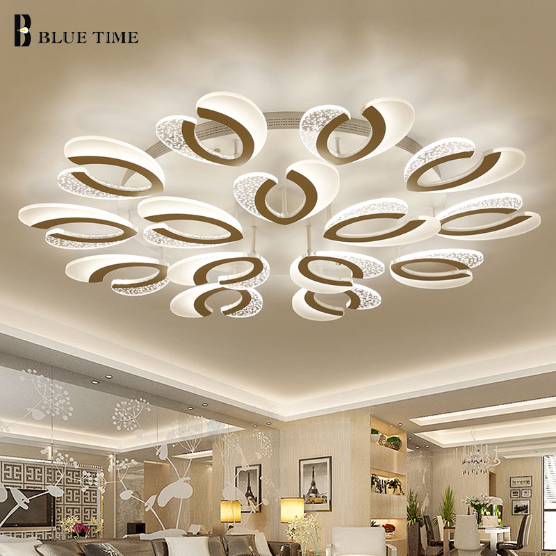 New Design Modern LED Ceiling Lights For Living Room Bedroom LED Lustres Large Ceiling Lamp LED Lighting Fixtures AC85-260V noosion modern led ceiling lamp for bedroom room black and white color with crystal plafon techo iluminacion lustre de plafond
