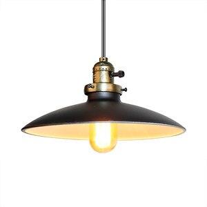 Image 1 - Loft Vintage Lampada A Sospensione Dia 250 millimetri E27 di Alluminio, Metallo, Ferro Retro Nord Europa Stile Industriale Edison Lampade a sospensione