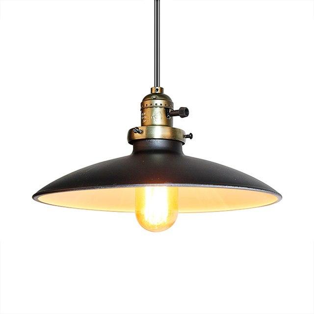 Loft Vintage Lampada A Sospensione Dia 250 millimetri E27 di Alluminio, Metallo, Ferro Retro Nord Europa Stile Industriale Edison Lampade a sospensione