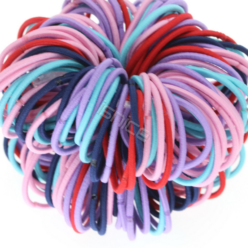 isnice Girls quality Children Fashion Novelty Elastic Hair Bands Print Striped   Headwear   Gum for hair tie Kids hair accessories