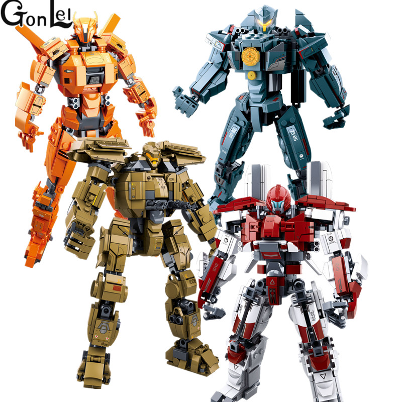 Hot 4 Styles Pacific Rim Series Building Block Set Model Robot Armor DIY Bricks Educational Toys Kids Gifts Compatible With цена