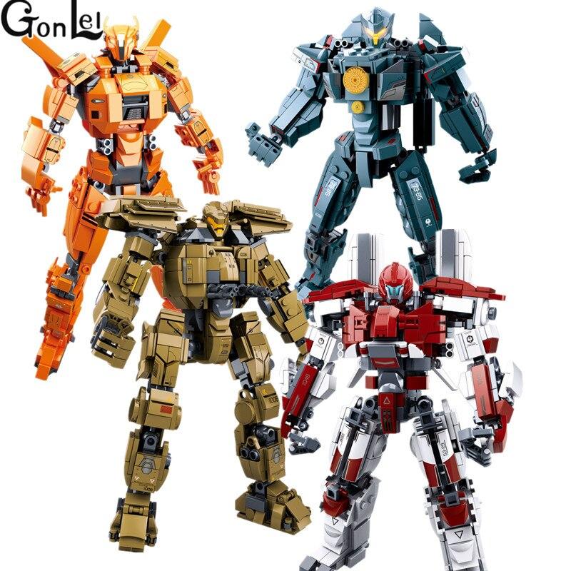Hot 4 estilos Pacific Rim Series Juego de bloques de construcción modelo Robot armadura DIY ladrillos juguetes educativos niños regalos compatibles con