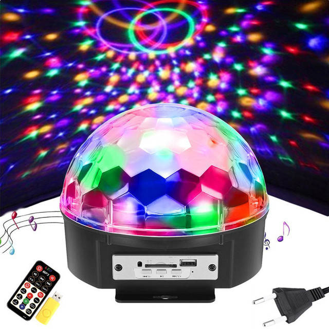 9 colors dj disco ball laser projector lumiere stage lamp sound activated music party light holiday