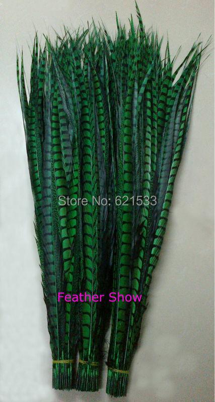 50gab 30-35 collu 80-90 cm garš zaļš dāma Amhersta fazāna astes - Māksla, amatniecība un šūšana