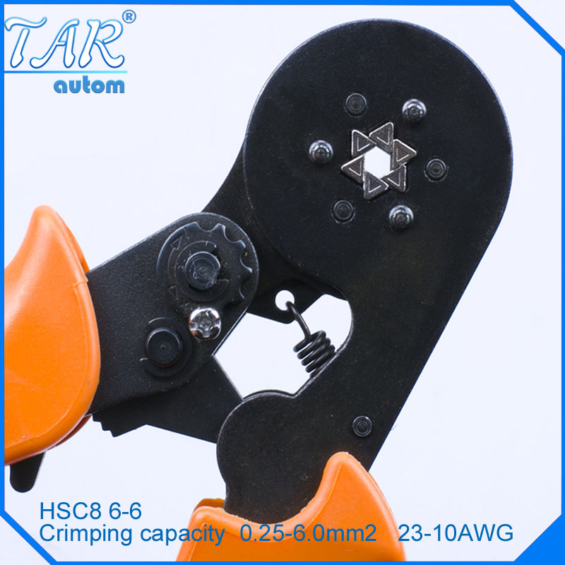 HSC8 6-6A HSC8 6-6 MINI-TYPE SELF-ADJUSTABLE CRIMPING PLIER 0.25-6mm terminals crimping tools multi tool tools