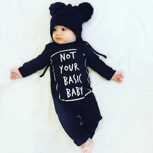 2016 autumn long-sleeved cotton letters baby boy clothing jumpsuit baby clothes newborn baby girl Romper infant clothing