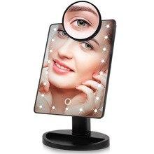 Светодиодный светильник, пресс-Экран 1X 10X лупа, зеркало для макияжа, настольная столешница, яркий регулируемый usb-кабель или аккумулятор