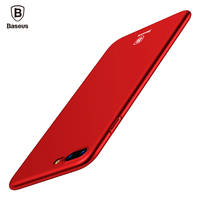 Baseus Luxury Phone Case For iPhone 8 7 6 6s s Ultra Thin Slim Cover For iPhone 8 7 6 6s Plus Capinhas PC Back Shell Coque Funda