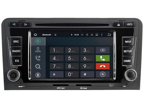 Android 7.1.1 2GB ram HD car DVD player for Audi A3 S3 RS3 2003-2012 gps navi radio audio stereo headunit multimedia tape record