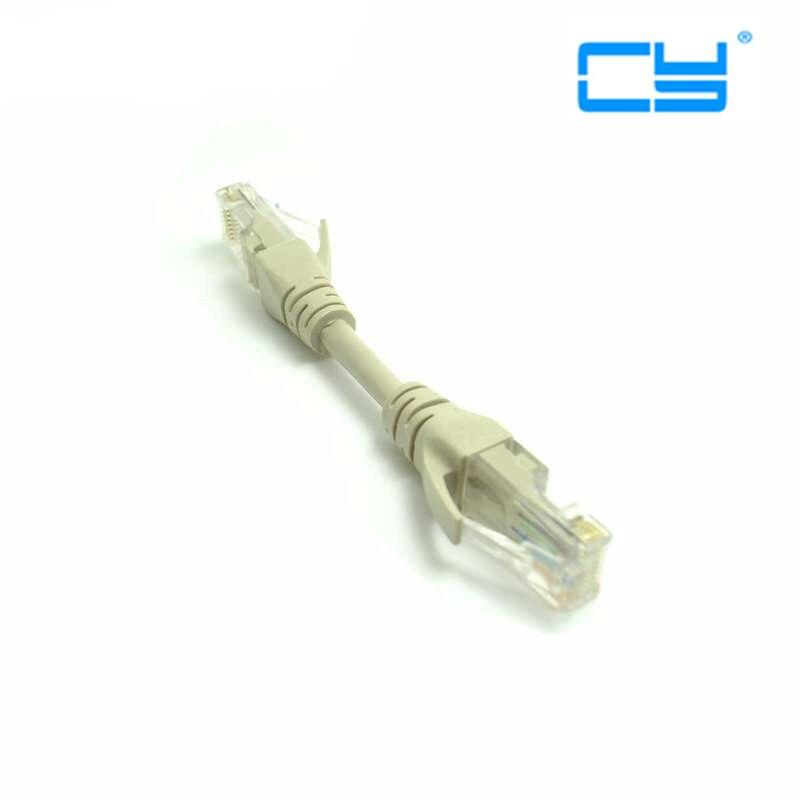 1pcs/lot 10cm0.1mCAT5CAT5eUTP Rede Ethernet ACaboMacho ParaMachoRJ45 Patch LAN Cable, Pela China Post Com Numero De Rastreament