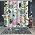 Индивидуальный Душ занавес для ванной комнаты перегородка 1,5x1,8 м 1,8x1,8 м 1,8x2 м цветочный синий розовый зеленый белый