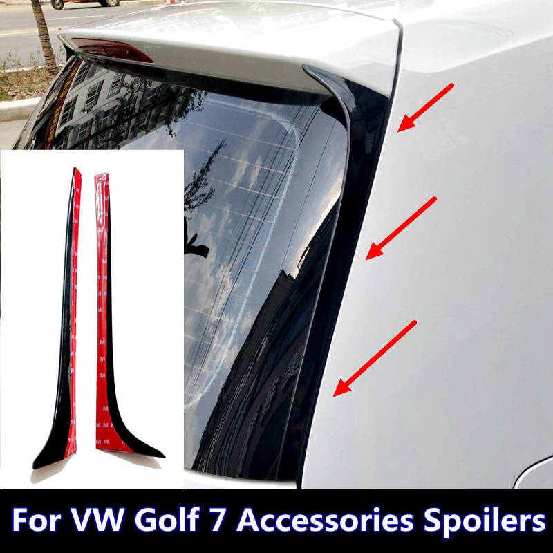 For Volkswagen Golf 7 MK7 2014-2018 spoiler For Volkswagen VW Golf 7 MK7 2014 2015 2016 2017 spoiler ABS spoiler Non GTI R