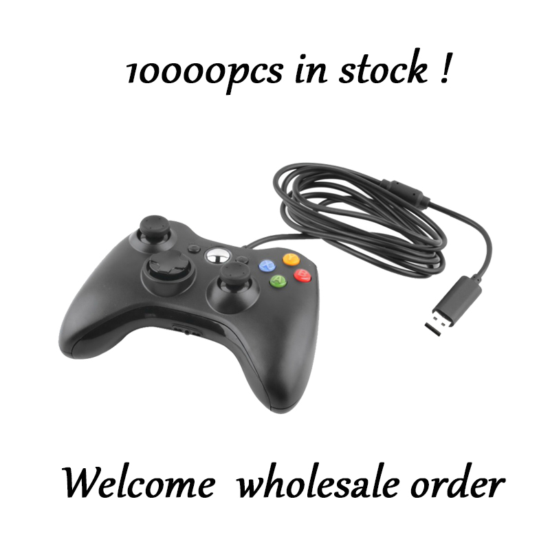 Best selling USB Wired Game Controller For xbox360 Gamepad Joypad Joystick For Xbox 360 Controller Slim Accessory PC Computer little bee usb wired controller converter for xbox 360 to ps3 black