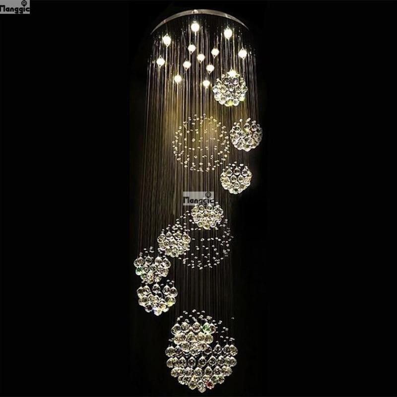 2018 HOT selling New Modern K9 LED Crystal Chandelier Crystal Lamp 100% Guarantee 110v 240v-in Chandeliers from Lights & Lighting