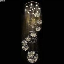 2018 venda quente nova moderna k9 led lustre de cristal lâmpada 100% garantia 110v 240v