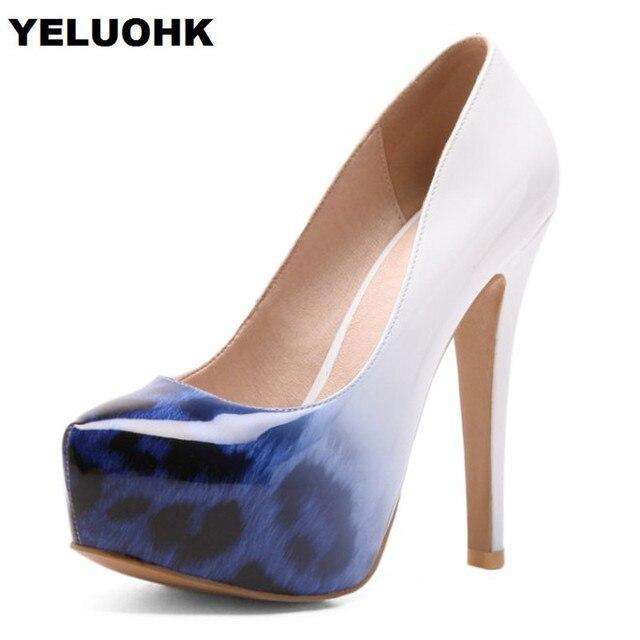 df21fe4e86a Large Size 43 Leopard Style Sexy High Heels Shoes Women Pumps Platform  Shoes Woman Pumps Extreme High Heels Ladies Shoes