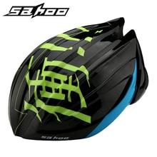 SAHOO Cycling Helmet Ultralight Deformable MTB Road Mountain Bicycle Bike Helmet Men Women Capacete Casco Ciclismo + 2 Shell