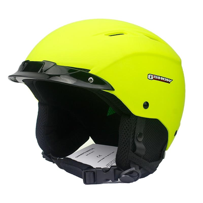 все цены на OSHOW Ski Helmet For Adult Half-Covered Snowboard Helmet Sports Helmet Women Helmet Covers Safety Head Protector онлайн