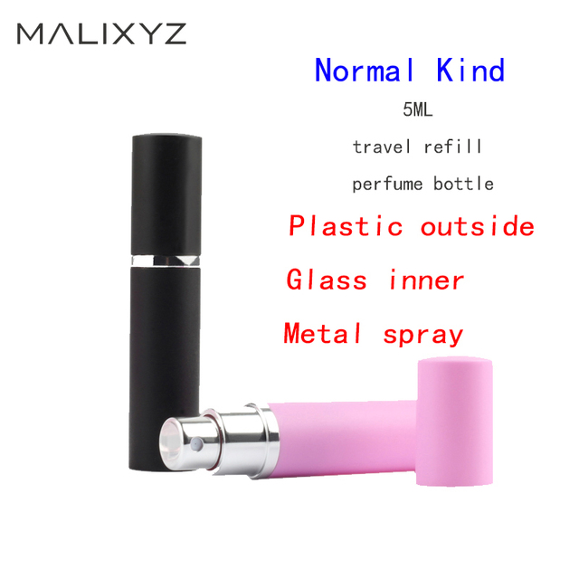 Refillable 5ml Refillable Mini Perfume Spray Bottle Aluminum Spray Atomizer Portable Travel Cosmetic Container Perfume Bottle