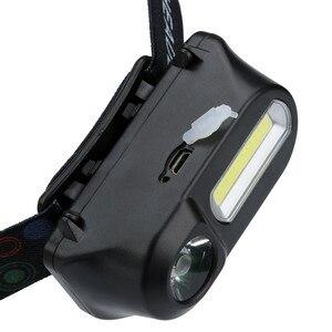 Image 4 - XPE COB LED פנס 6 מצב פנס רצועות פנסי מתכוונן נטענת ראש לפיד להשתמש 18650 סוללה עבור קמפינג