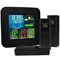 WEA 47 EU Digital Weather Station 3 Wireless Sensor W 6 Weather Forecast RCC DCF Thermometer