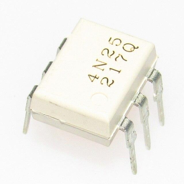 10pcs/lot 4N25 EL4N25 DIP6 Transistor output optocouplers PTR 20%, 2.5KV New original In Stock