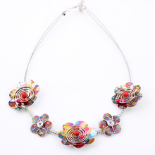 style New 2016 flowers necklace iron