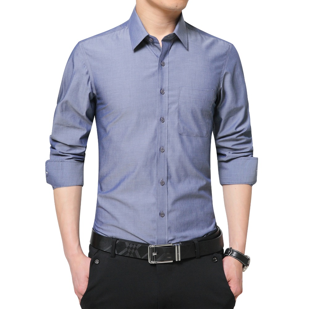 2018 Brand New Mens Dress Shirt Long Sleeve Cool Shirt Candy Color