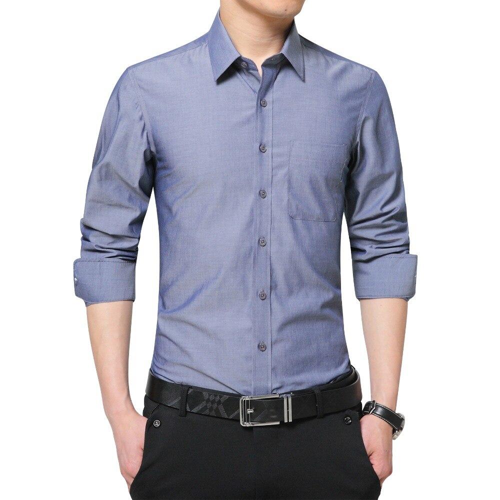 2020 Brand New Mens Dress Shirt Long Sleeve Cool Shirt Candy Color Plus Size 5XL Turn