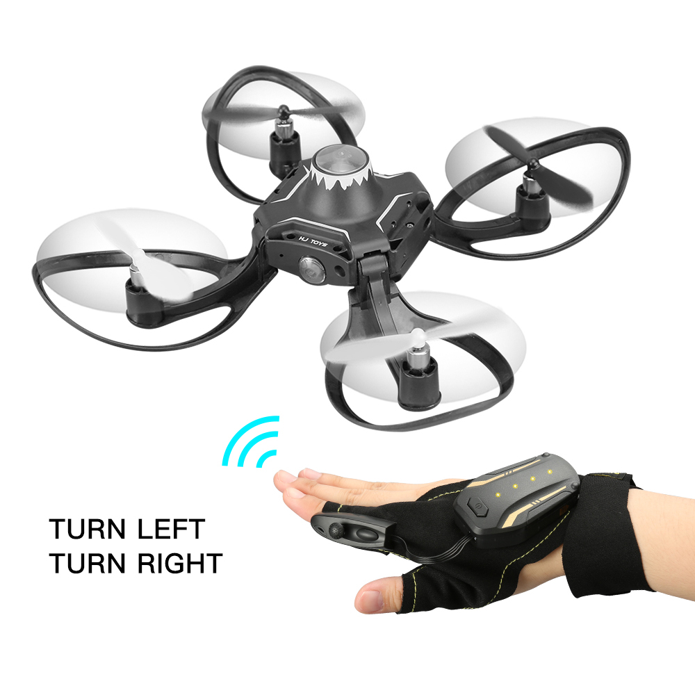 W606-16 Volcano Gloves Control Interactive RC Mini Drone Quadcopter Wifi FPV 480P Camera RC Helicopter Aircraft Foldable Arm