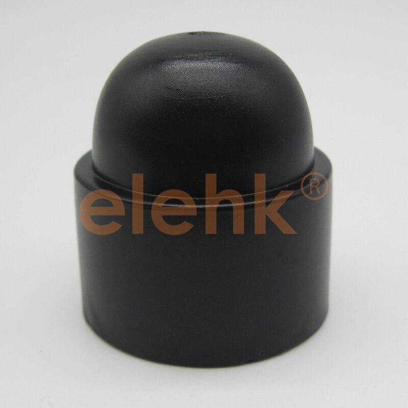 Confezione DA 100 DI M5 NYLON PLASTIC HEX NUT COVER CAP NERO