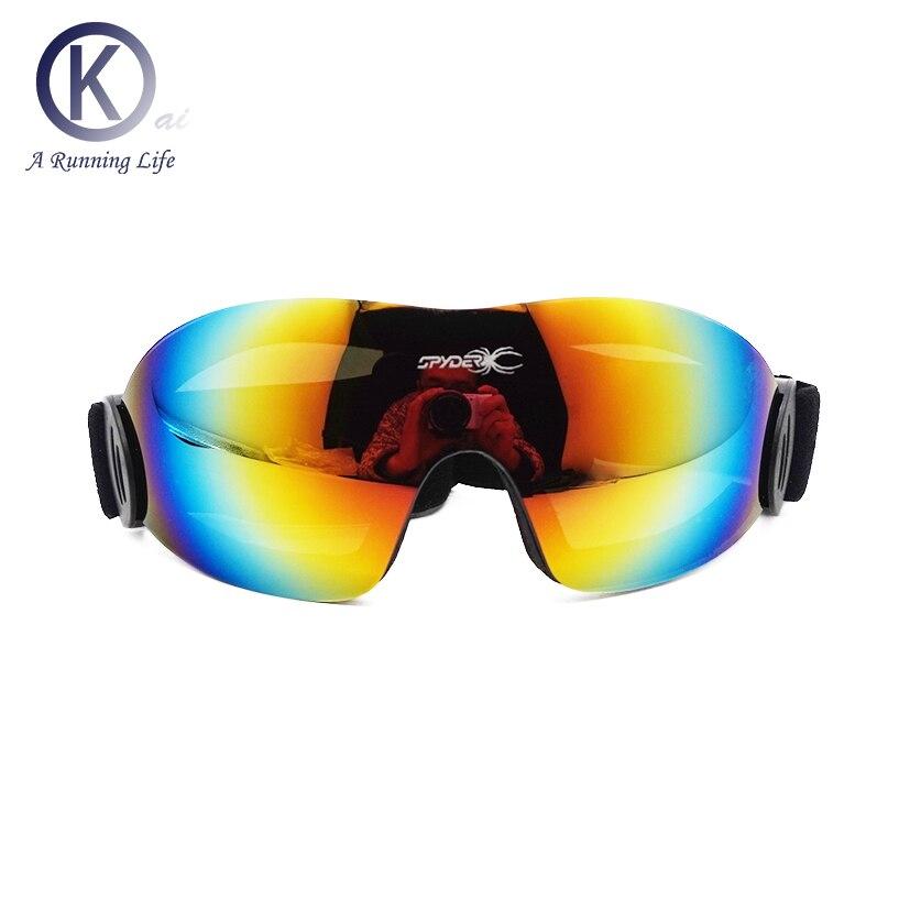 Calidad colorido de Esquí de Esquí Gafas HD Gafas sin marco hombres mujeres niev