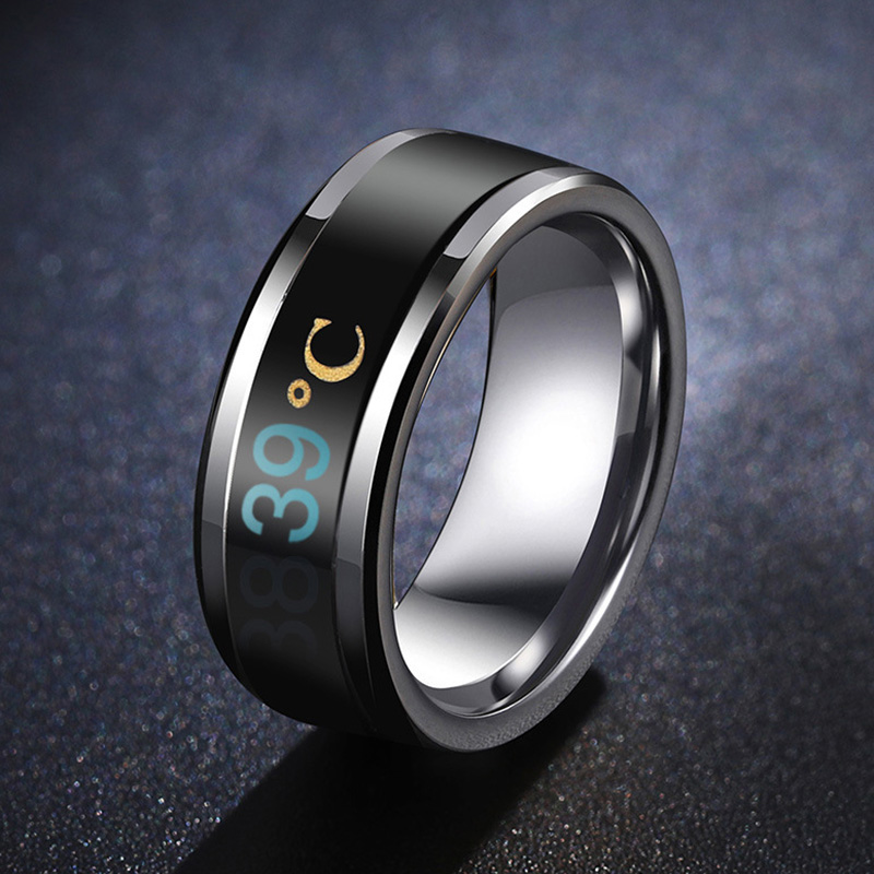 HTB1DvTlMNTpK1RjSZFMq6zG VXa2 - Temperature Ring Titanium Steel Mood Emotion Feeling Intelligent Temperature Sensitive Rings for Women Men Waterproof Jewelry