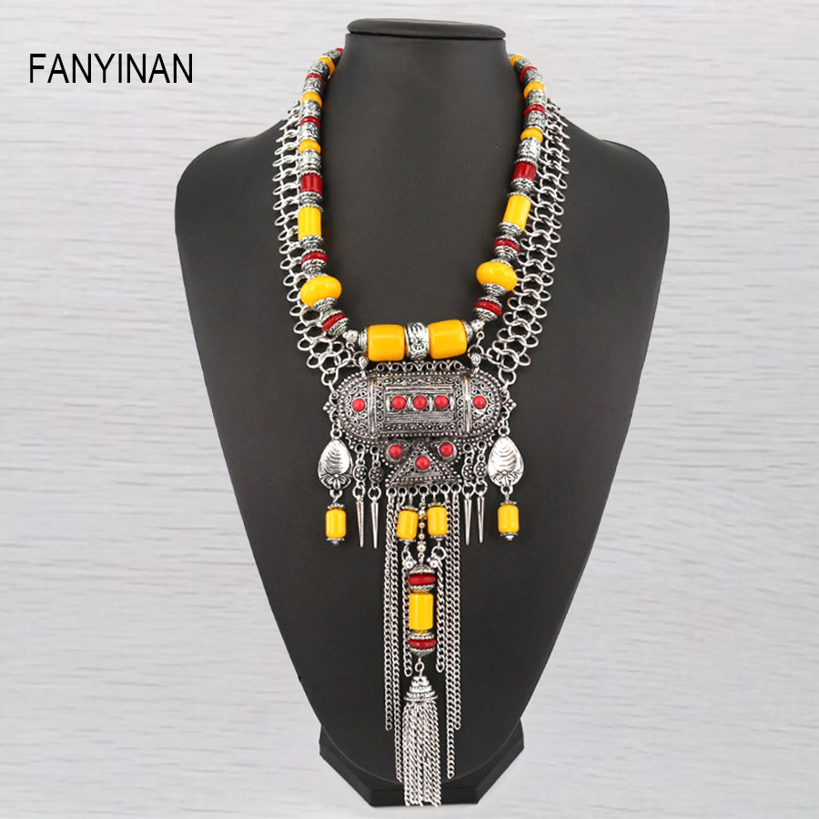Fashion Jewelry Ethnic Bohemia Red Coral Tassel Statement Hollow Out Beaded Pendant& Necklace Women Wholesale peace education at the national university of rwanda