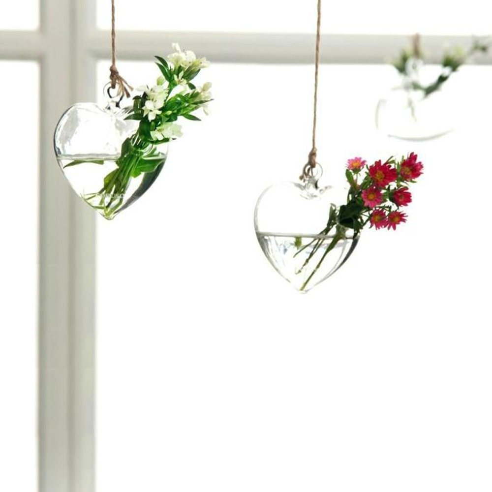 Hanging love them for comples lovers heart shaped glass plant hanging love them for comples lovers heart shaped glass plant flower vase hydroponic home decor decoration clear crystal in vases from home garden on reviewsmspy