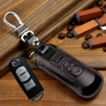 fob Leather Key Holder Cover bag For Mazda 3 6 cx5 CX-7 CX-9 MX-5 (Fits: Mazda) key wallets case shell ring keychain accessories