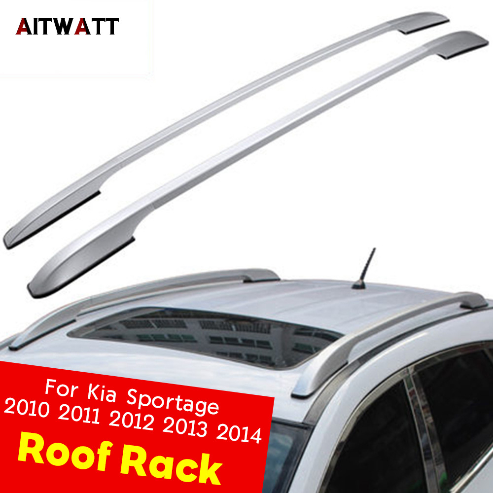 Roof Rack Side Rails Bars Roof Rail Luggage For Kia Sportage 2010 2011 2012 2013 2014 Carrier Baggage Rack Holder Car Styling