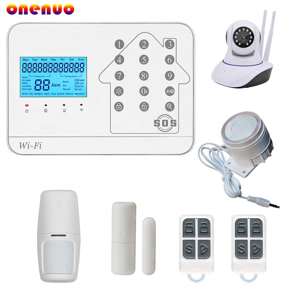 Vendita calda 433 mhz wireless home sistema di allarme con GSM WIFI PSTN funzione di controllo WIFI PSTN sistema di allarme di GSM di Trasporto libero sistema diVendita calda 433 mhz wireless home sistema di allarme con GSM WIFI PSTN funzione di controllo WIFI PSTN sistema di allarme di GSM di Trasporto libero sistema di